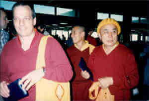 Venerable Toby Gillies with Geshe Thubten Loden