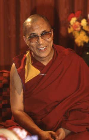 Dalai Lama is happy