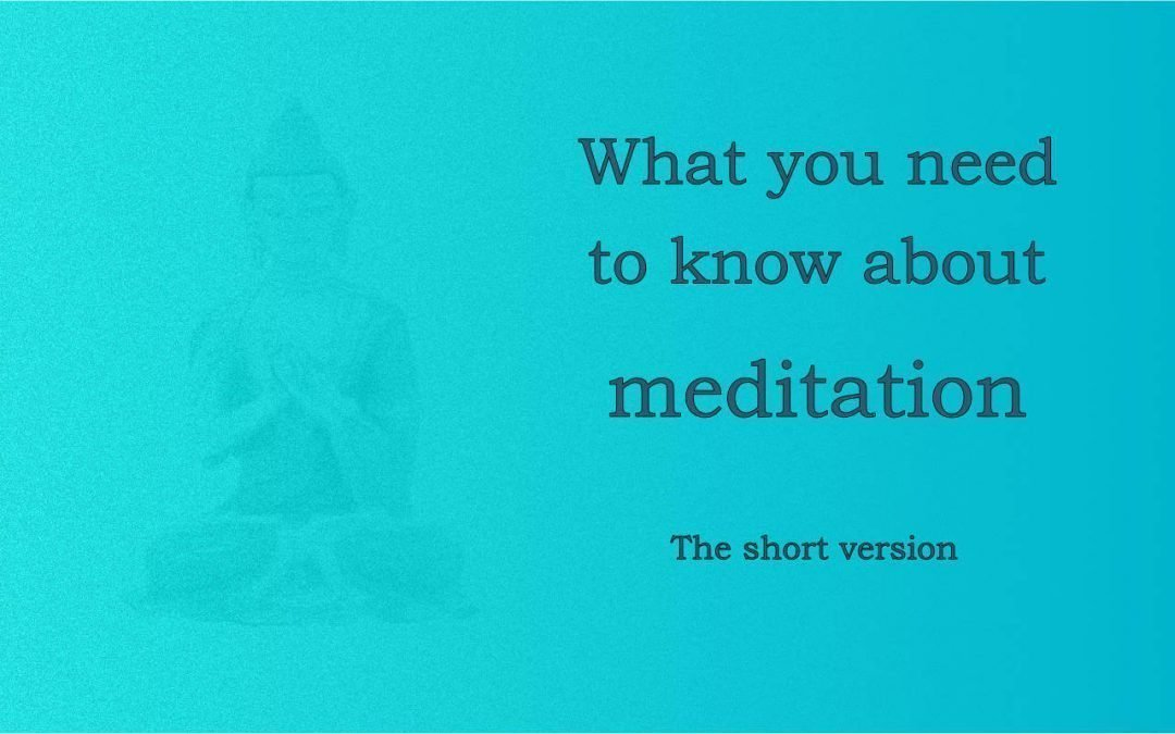 Buddhist meditation: how it is different
