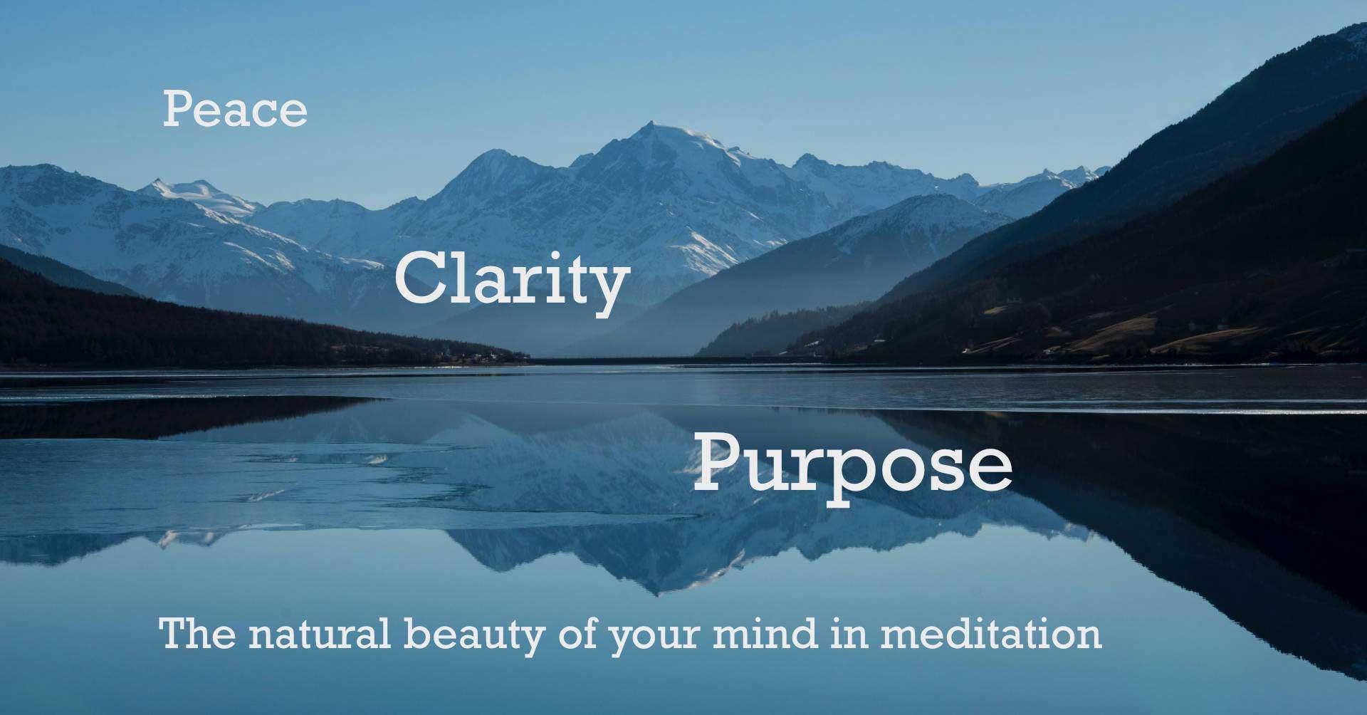 peace clarity purpose