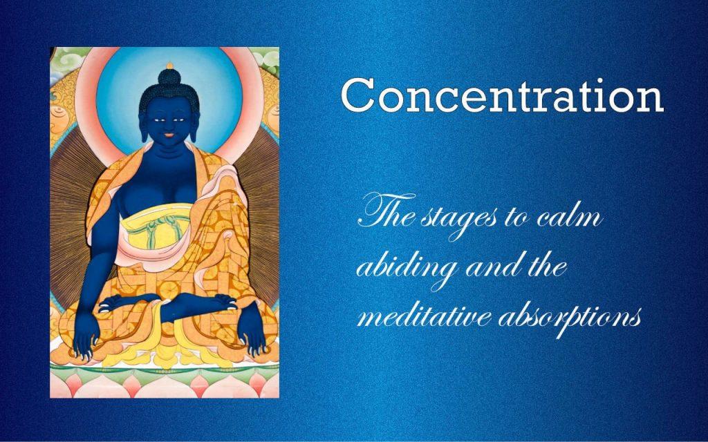 Concentration in meditation